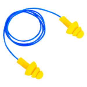 Protetor Auricular azul em Copolimero